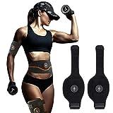 Muskeltrainer Elektrisch, ABS Stimulator Bauchtraining USB-wiederaufladbarer tragbarer EMS Trainingsgerät Bauch- / Arm- / Bein-Fitness Trainings Gang(2 Kälber + 2 Wirte)