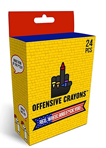 Adult Coloring Offensive Crayons - Red, White and F You Edition