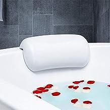 وسادة حمام سبا مضادة للانزلاق حوض الاستحمام مسند رأس ناعم مقاوم للماء مع أكواب شفط سهلة التنظيف إكسسوارات الحمام