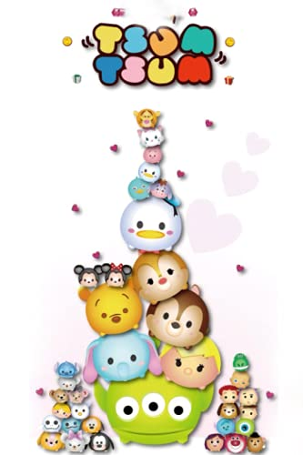 Tsum Tsum Notebook: - Letter Size 6 x 9 inches, 110 wide ruled pages