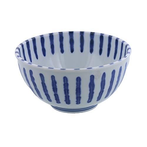 テーブルウェアイースト ダミ十草 軽量多様丼ぶり(大) 白,青 17.1 x 16.6 9.5 cm sn-F1-1002-0