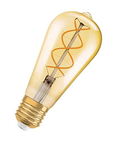 OSRAM Vintage Edition 1906 Ampoule LED à Filament Spirale   Culot E27   Forme Edison Or Ambrée   Dimmable   Blanc Chaud 2000K   4,5W (équivalent 25W)
