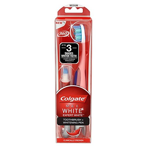 Price comparison product image Colgate Max Expert Toothbrush and Whitening Pen,  White