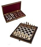 Juego de ajedrez, hecho a mano, tablero de ajedrez plegable con almacenamiento, edición lujosa, figuras de ajedrez, juego de ajedrez, 40 x 40 cm, compra de ajedrez