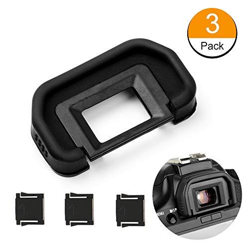 Fotover Augenmuschel Okularmuschel Okular Sucher für Canon EOS 6D,6D Mark II,5D,5D Mark II,80D,70D,60D,50D,40D,30D,20Da,20D Kameras Ersetzt Canon EB Okular mit Blitzschuhabdeckung(3 Stück)
