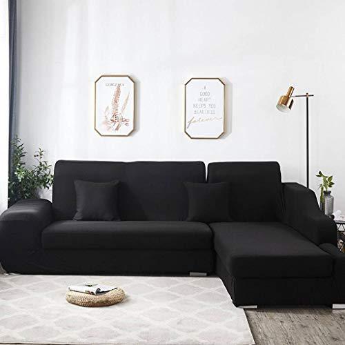 JHLD Elástica Fundas para Sillones, Lijado Antideslizante Cubre Sofa con Funda De Almohada Estilo Nórdico Funda Sofá para 1 2 3 4 Plaza Sofá En Forma De L Sofa-C-4Asiento 235-300CM (92-118inch)