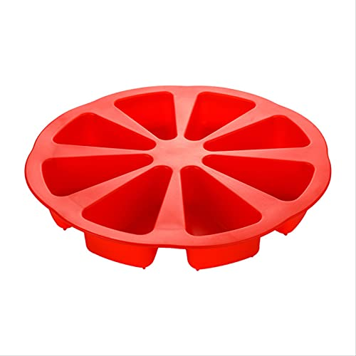 JUHON Diy 8 Grids Silicone Cake Molds Orange Shape Home Kitchen Pizza Plate Bakeware Bread Biscuit Molds