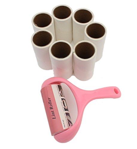 Rodillo de Pelusa+7 Reemplazos Pegajosos Quitapelusas de Adhesivo Mascotas Limpiador Sticky Picker Cleaner Set de ISIYINER para Alfombra Asiento de Coche Ropa
