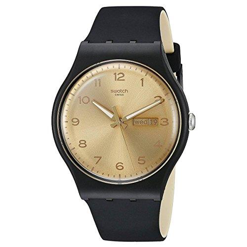Friend muestra de tela Golden reloj Unisex SUOB716
