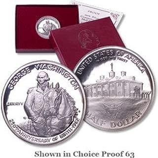 1982 S George Washington Commemorative 90% Silver Dollar Condition Proof