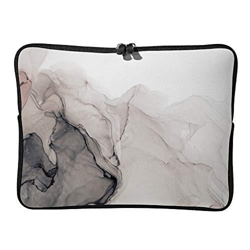 Funda para portátil con textura de mármol, moderna y ampliable, estilo moderno, adecuada para viajeros