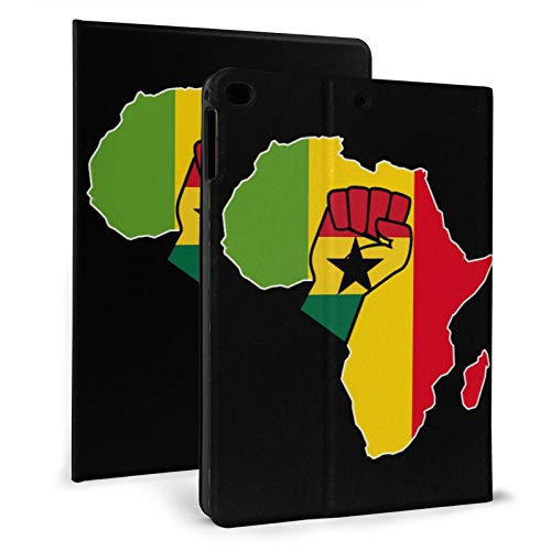 Ghana Flag Africa Map Slim Lightweight Smart Shell Stand Cover Case for iPad air1/2 9.7' Generation,Auto Wake/Sleep