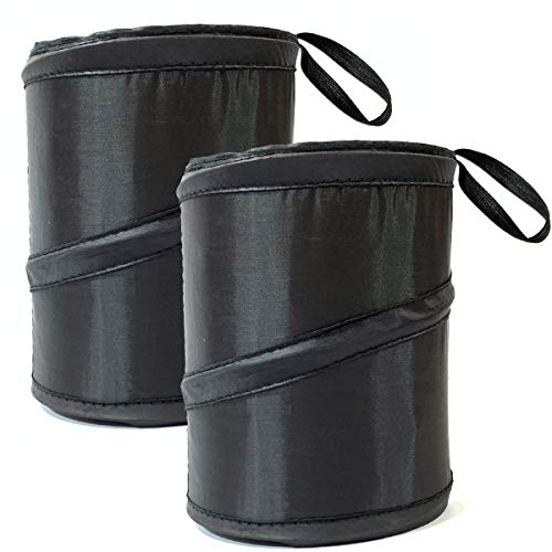 Kitbest Car Trash Can (2 Pack), Auto Garbage Bin, Collapsible Pop Up Trash Garbage Bag for Car, Small Portable Vehicle Trashcan, Console Trash Container, Automobile Waste Basket