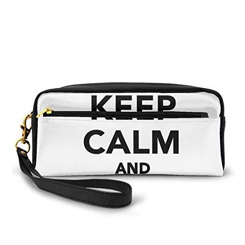 Kleine Make-up-Taschen, Geldbörse, Baseball-Spruch, Sport-Thema mit der Ballfigur, einfarbiges Piktogramm, PU-Leder, Reißverschluss, Reise-Kosmetiktasche und Bleistift-Organizer