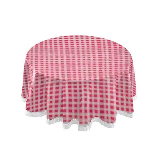 Tischdecke, 60 Zoll Runde Lustige kindliche Stil Vektormuster Weiße Tischdecke Druck Tischdecke Waschbar Esszimmer Dekorativ Für Ferienhaus Weihnachtsfeier Picknick 60 Zoll