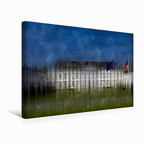 Premium Textil-Leinwand 45 x 30 cm Quer-Format City-Art BERLIN Schloss Bellevue, Leinwanddruck von Melanie Viola