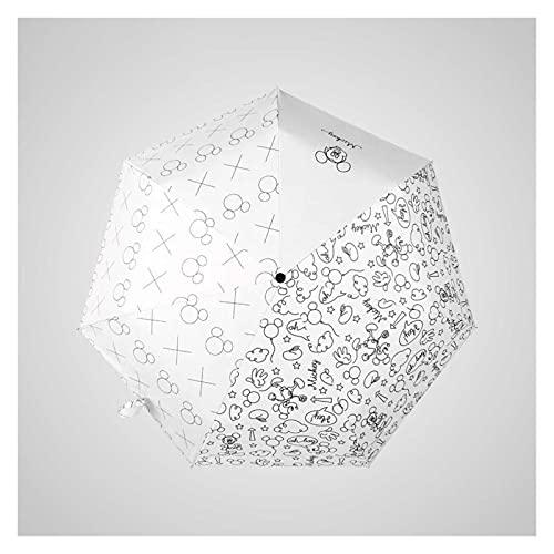 Protección Solar Y Protección Tres Plegas De Dibujos Animados Niños Paraguas Plegables Paraguas (Color : DY 2 003 D)