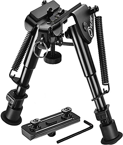 CVLIFE 6-9 Inches Rifle Bipod with Bipod Mount Adapter