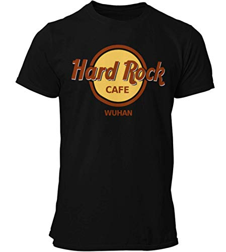 Parody Shirts Hard Rock Wuhan - Fun Shirt (schwarz, XL)