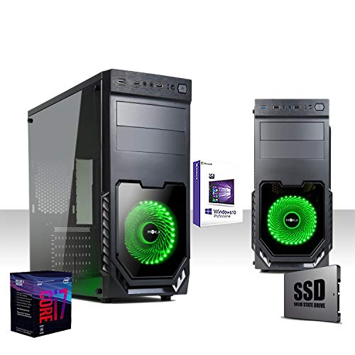 Pc Gaming Desktop Intel I7-8700 8ta generación 4.3 GHZ SIX-CORE, Ssd 480gb / Ram 16gb Ddr4 2400Mhz, Windows10 Pro 64 Bit, Wifi 300 Mbps, Edición, gráficos, oficina, trabajo, i7 completo