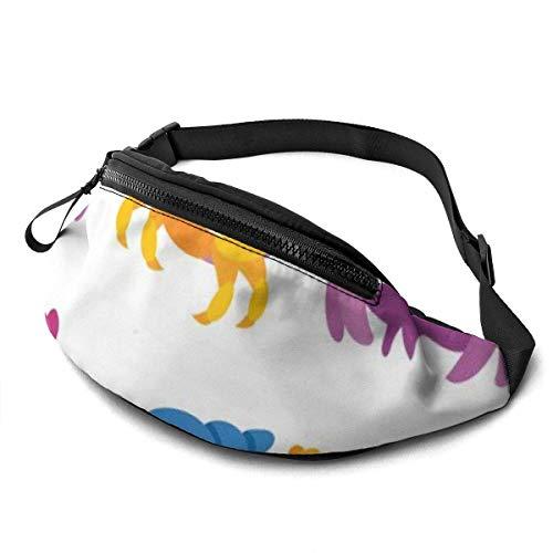 XCNGG Bolso de la cintura del ocio bolso que acampa bolso del montañismo Cartoon Crab Fanny Packs for Women and Men Waist Bag Adjustable Belt for Outdoors Workout,Traveling,Casual Running,Hiking,Cycli