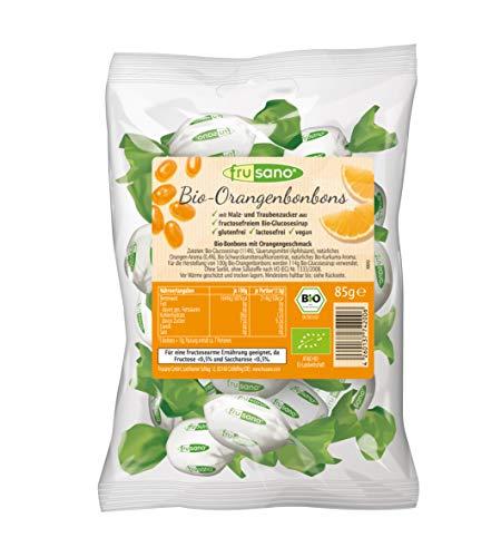 Frusano Bio-Orangenbonbons 85g