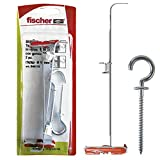 Fischer 540176 - Tacos para cartón yeso Duotec 10 R K con gancho, color gris