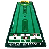 Golf Putting Mat, Equipo de Entrenamiento de Golf Interior Plegable Golf Green Green Green Putter Putter Pretter Manta Golf Practica Regalo para Amigos WTZ012 (Color : Green, Size : 0.6 * 3m)