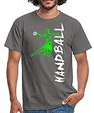 Handball Handballer Sprungwurf Seitlich Männer T-Shirt, XXL, Graphit