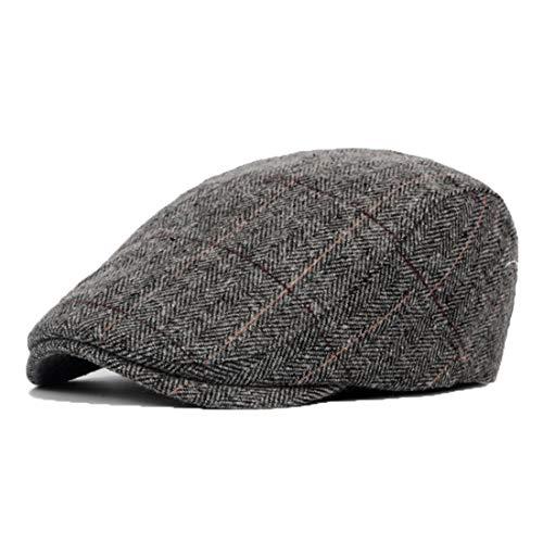 JAOAJA Gorra Plana para Hombre Gorra de Vendedor de Periódicos Sombrero de Pico de Pato Gorra de Conducción Boina Gorra Irlandesa Gatsby Lvy, Ajuste (56-59 CM)