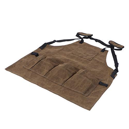 Delantal de lona, bonito delantal para herramientas, delantal ajustable con correas, suministros de jardinería, para sujetar pinzas sujetar llaves sujetar destornilladores sujetar