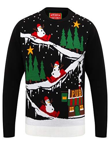 Tokyo Laundry - Jersey navideño para hombre Negro Al Pub Negro XL