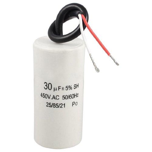 SODIAL(R) 2 cable alambrado 30uF 450VAC 50/60Hz CBB60 Condensador de funcionamiento de arranque del motor