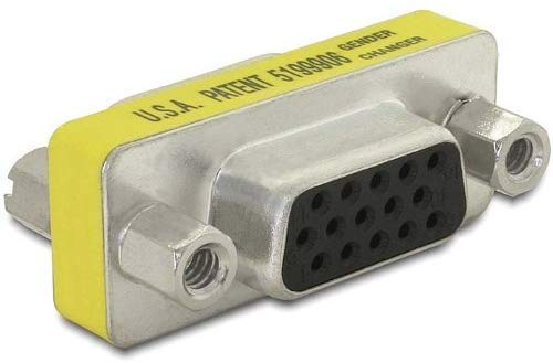 Movilideas - Adaptador VGA Hembra a Hembra Empalme (1 Unidad)