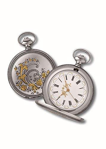 OPO 10 - Reloj de Bolsillo con Gousset, réplica de un Reloj Real de antaño: Dimensiones 9,8x12,3x2,3H (Ref: 203)