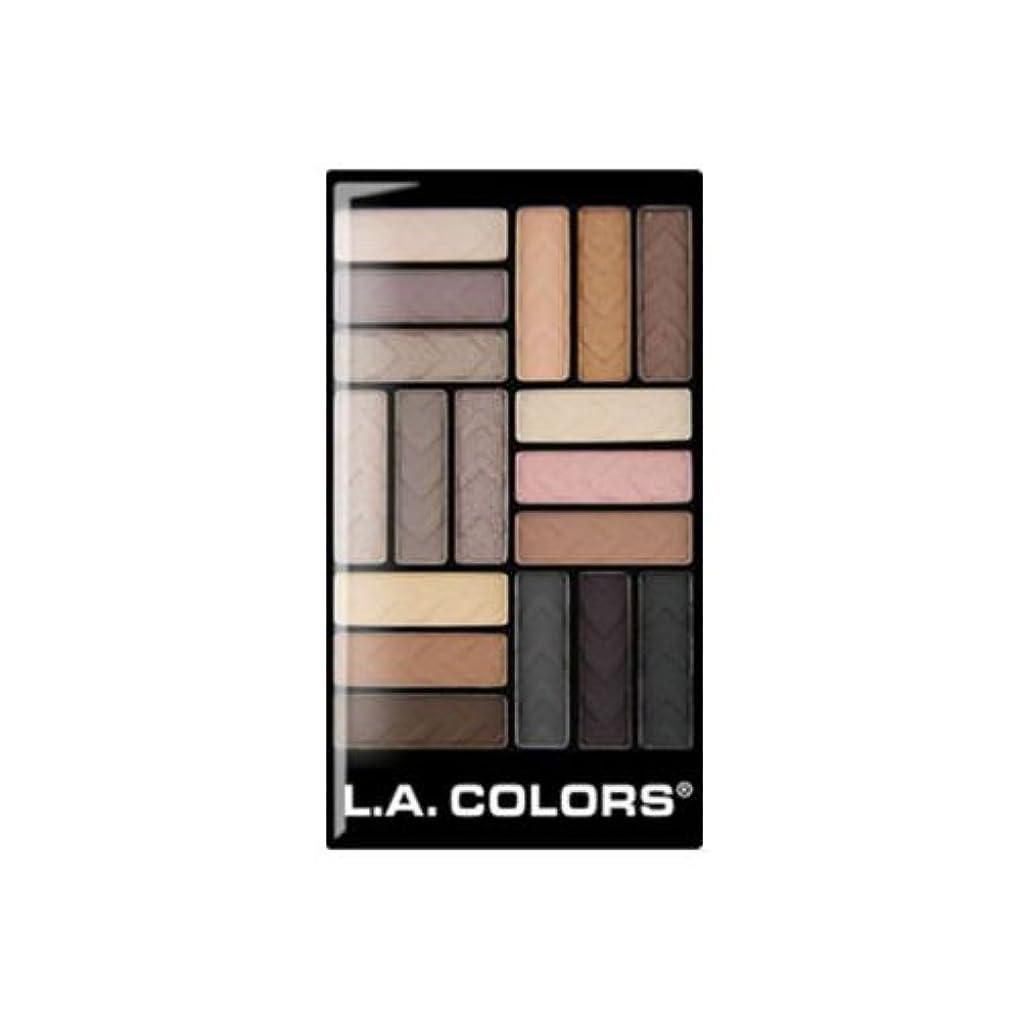 負担キノコ肥沃な(3 Pack) L.A. COLORS 18 Color Eyeshadow - Downtown Brown (並行輸入品)