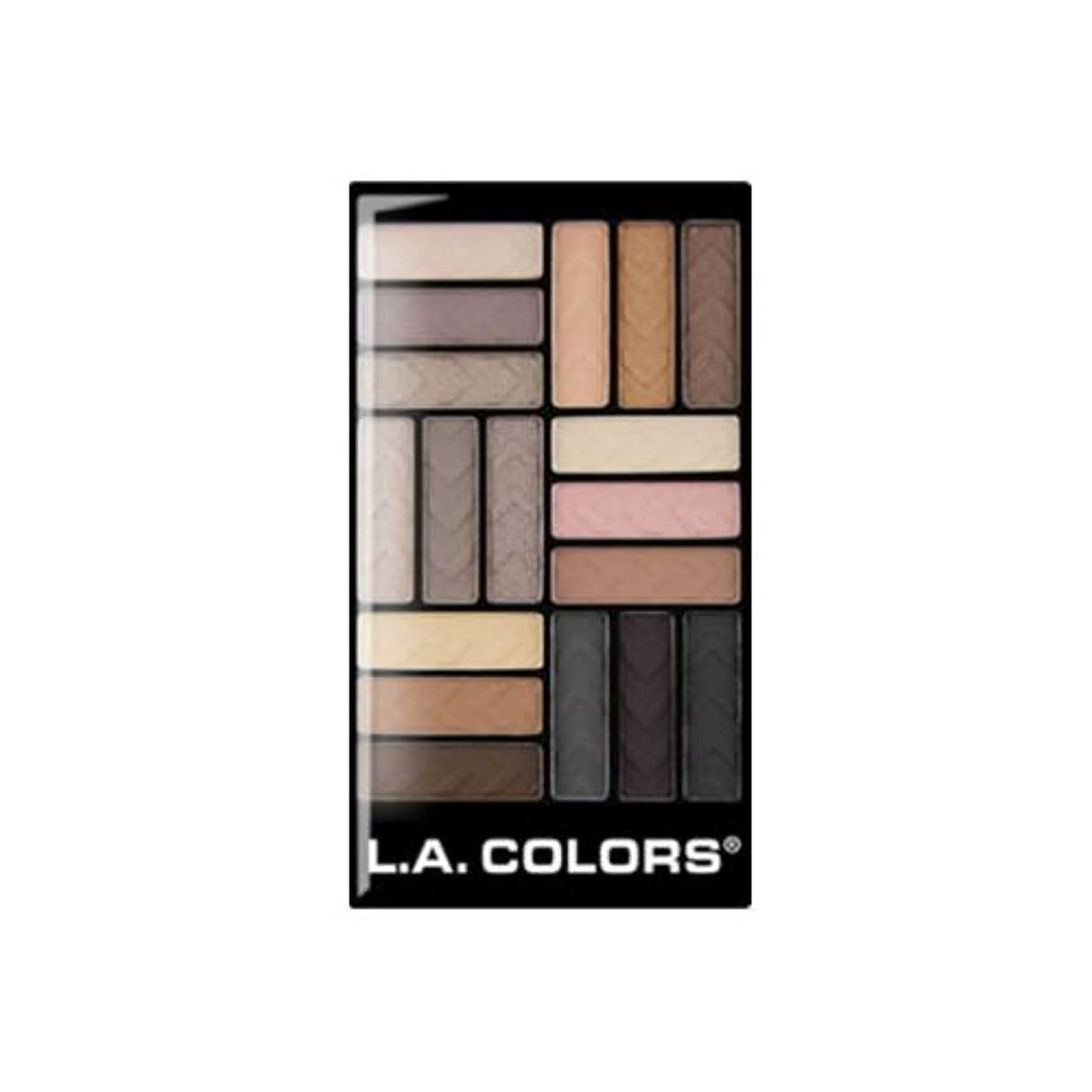 周り受取人のり(6 Pack) L.A. COLORS 18 Color Eyeshadow - Downtown Brown (並行輸入品)