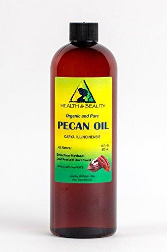 Pecan Oil Unrefined Carrier Cold Pressed Virgin Raw Premium Pure 32 oz