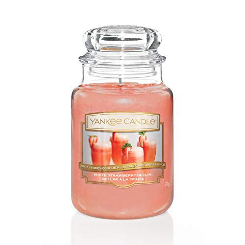 Yankee Candle White Strawberry Bellini Duftkerze Großes Glas