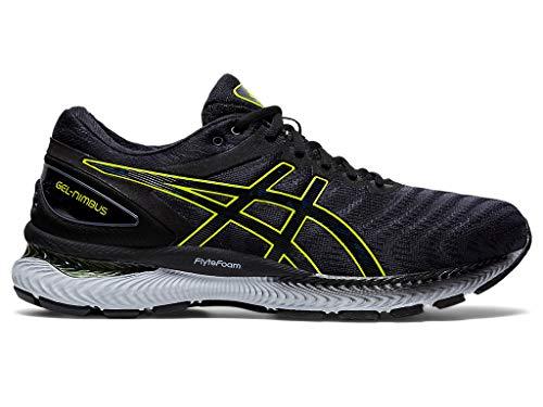 ASICS Men's Gel-Nimbus 22 Running Shoes, 6M, Carrier Grey/Lime Zest