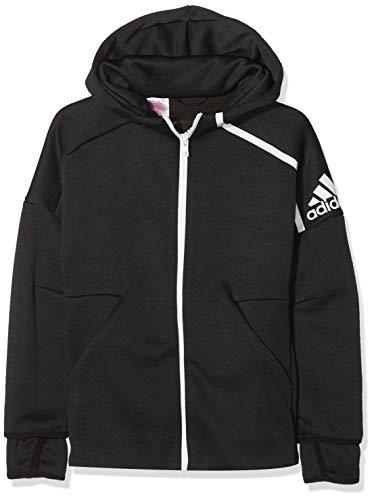 adidas Jungen Hooded 3.0 Kapuzen-Sweatshirt, Zne Htr/Black/White, 140