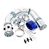 XINGFUQY Universal 3 Pulgadas 76mm Toma de Aire Tubería/aleación de Aluminio de admisión Tubo Turbo Kit Directo de Aire frío Filtro del Sistema de inyección (Color : Silver)