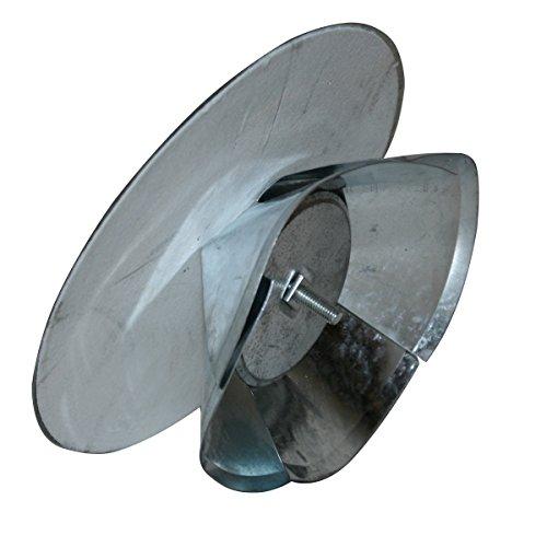 Universalkapsel für einen Ø 100 mm bis 160 mm mit Isolierung Wandkapsel feueraluminiert FAL