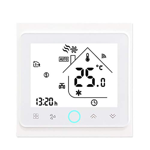 OMVOVSO Termostato Inteligente Controlador De Temperatura Compatible Piso Calefacción Habitación Compatible Termostato Calefacción Digital Calefacción Inteligente,Blanco