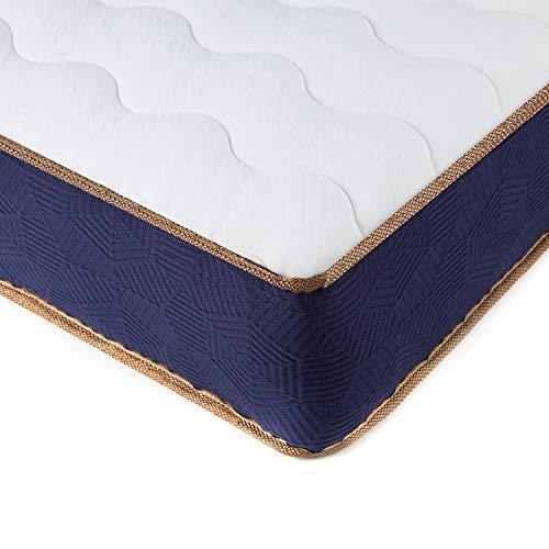 BedStory - Materasso singolo, materasso a molle insacchettate con tessuto traspirante 3D, materasso ibrido a molle in memory foam, 90 x 190 x 23 cm
