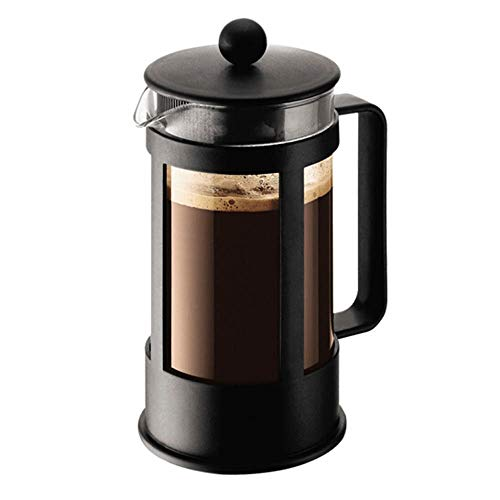 Fantastic Deal! Coffee press Glass Coffee Maker Tea Maker Household Appliances Manual Tea Filter Cup Portable Hand-made Teapot Safe and Easy to Clean (Color : Black, Size : 350ml)