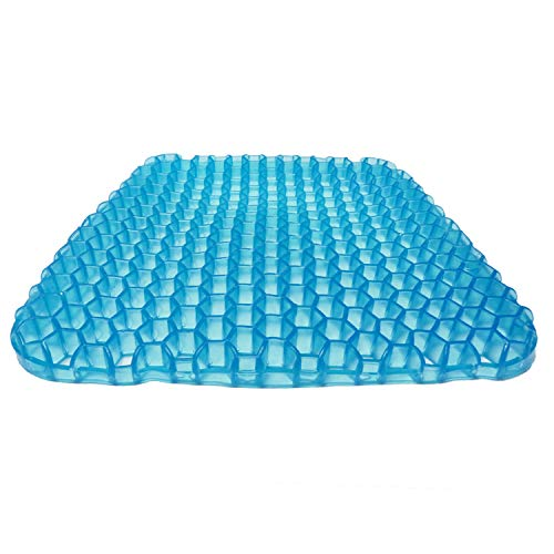 SESEAT Gel Seat Cushion Breathable Honeycomb with Non Slip Cover for Chair Office Car Wheelchair Gel Cushion Seat Pad