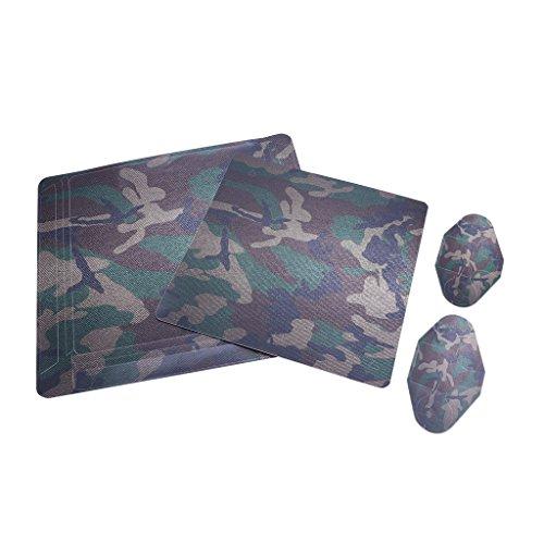 JENOR Camouflage Aufkleber Skin Cover kompatibel für Sony PS4 Slim Konsole + 2 Controller