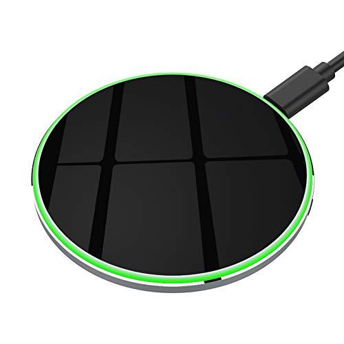 yootech 15W USB C Caricabatterie Wireless,Caricatore Senza Fili,Ricarica Rapida,7.5W/10W per iPhone 12 Mini/12 Pro Max/11 Pro/XS MAX/XR/XS/X/8/8+/SE 2020,Galaxy S20/S10+/S10/S10e/Note 9/S9/S9+/Nota 8