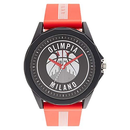 Armani Exchange - Sport - Reloj Analógico de Cuarzo con Correa de Silicona Roja para Hombre AX2643